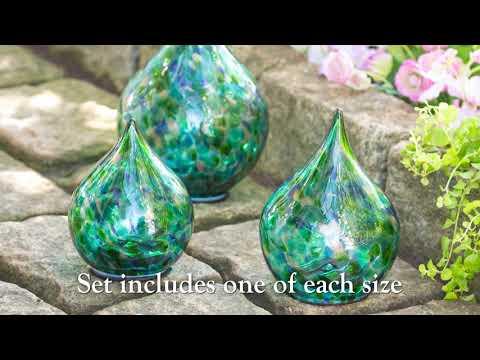 Multi-Colored Glass Solar Lighted Tear Drops