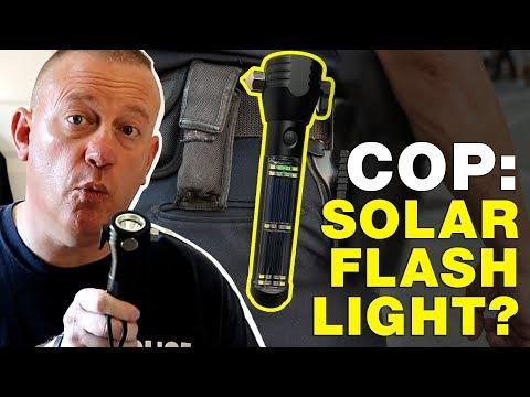 Solar Flashlight Review | Cop Reviews HaloXT Flashlight